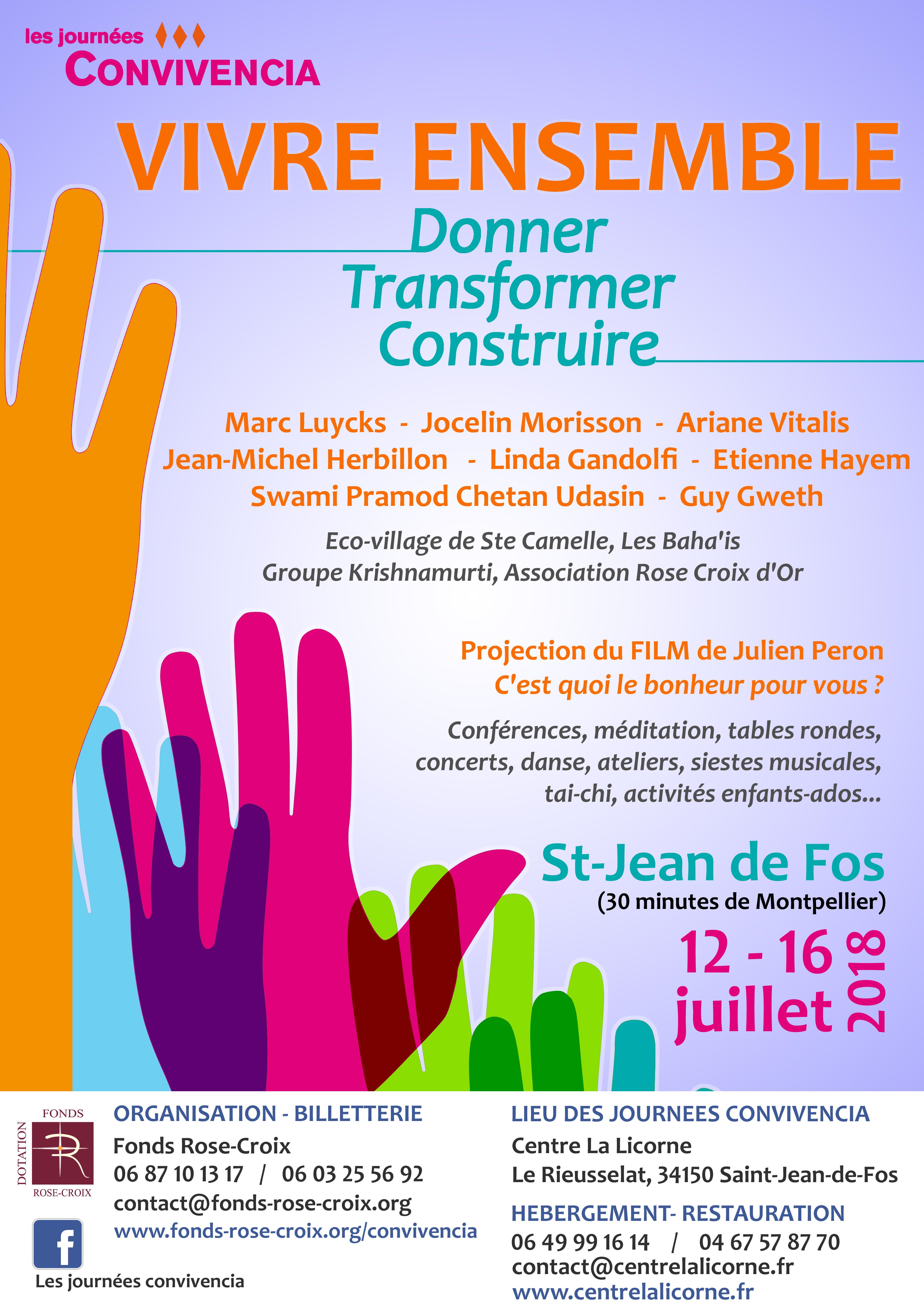 Les Journees Convivencia Du 12 Au 16 Juillet 2018 Fonds Rose Croix