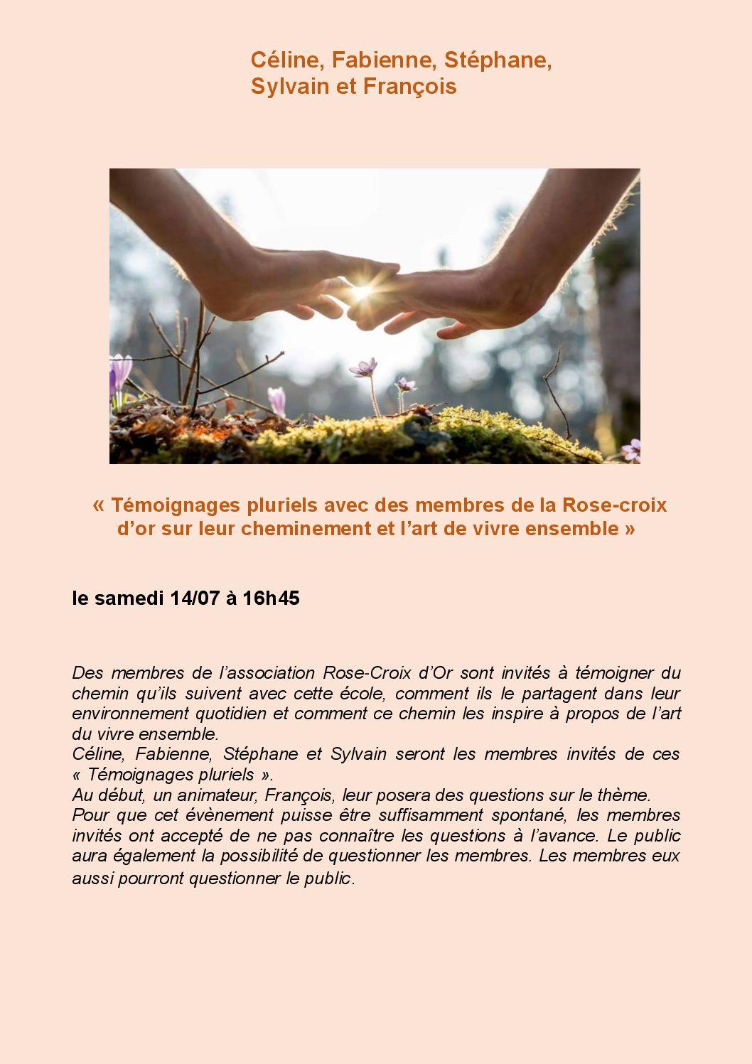 Temoignages Pluriels Rose Croix D Or Fonds Rose Croix